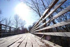 Vieux pont en train Photographie stock libre de droits