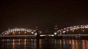 Vieux pont la nuit Photo libre de droits