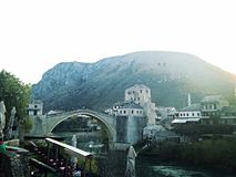Vieux pont Mostar Images libres de droits