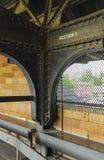 Vieux pont supérieur de stade de base-ball Photo stock