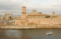 Vieux port à Marseille, France Photographie stock