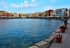 Vieux port chez Crète, Grèce Photographie stock libre de droits