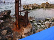 Vieux port corrosion image stock