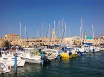 Vieux port dans Akko, Israël Images stock