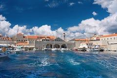 Vieux port dans Dubrovnik Images libres de droits