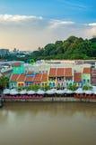 Vieux port de Clarke Quay à Singapour Photo libre de droits