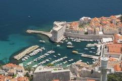 Vieux port de Dubrovnik Image stock