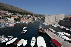 Vieux port de Dubrovnik, Croatie Images stock