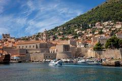 Vieux port de Dubrovnik, Croatie Photographie stock