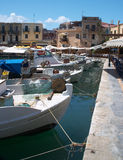 Vieux port de Rethymno Photos libres de droits
