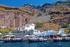 Vieux port de Santorini Photos stock