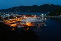 Vieux port de Skiathos Image libre de droits