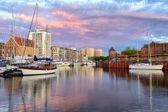 Vieux port de ville de Danzig, Pologne image libre de droits