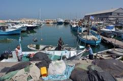 Vieux port de ville de Jaffa dans le téléphone Aviv Jaffa - Israël Images libres de droits