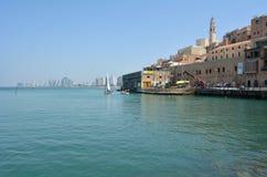 Vieux port de ville de Jaffa dans le téléphone Aviv Jaffa - Israël Image libre de droits