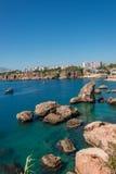 Vieux port et en centre ville Marina appelée à Antalya, Turquie photos libres de droits