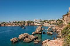 Vieux port et en centre ville Marina appelée à Antalya, Turquie photo stock