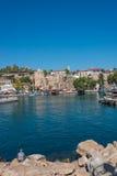 Vieux port et en centre ville Marina appelée à Antalya, Turquie photos stock