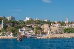 Vieux port et en centre ville Marina appelée à Antalya, Turquie Photo libre de droits
