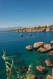 Vieux port et en centre ville Marina appelée à Antalya, Turquie photographie stock libre de droits