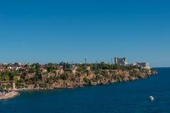 Vieux port et en centre ville Marina appelée à Antalya, Turquie Images libres de droits