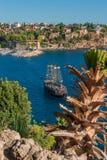 Vieux port et en centre ville Marina appelée à Antalya, Turquie Photographie stock