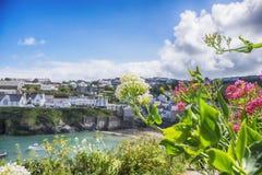 Vieux port Isaac, les Cornouailles de village Photo stock
