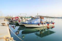 Vieux port, Limassol, Chypre image libre de droits