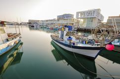 Vieux port, Limassol, Chypre photo stock