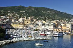 Vieux Port Marina in Bastia. Anchoring boats in Vieux Port Marina in Bastia - Corsica Royalty Free Stock Photo