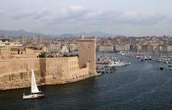 Vieux port Marseille Arkivbilder