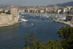 Vieux Port in Marseille in Provence Stock Photos