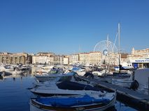 Vieux Port Marseille, South of France. The old port in Marseille,  Viuex port, South of France Stock Photo