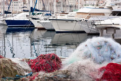 Vieux port of marseilles Stock Images