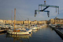 Vieux Port in Marseilles Royalty Free Stock Photography