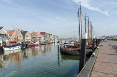 Vieux port occidental d'Urk Images libres de droits