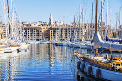 Vieux port - Old Port in Marseille Royalty Free Stock Photo