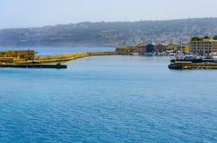 Vieux port vénitien dans Chania. Crète, Grèce Images stock