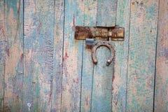 vieux, porte en bois d'architecture Images stock