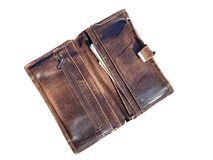 Vieux portefeuille images stock