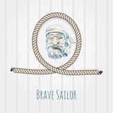 Vieux portrait de marin Photos stock