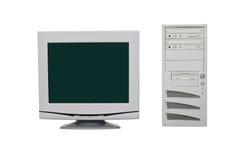 vieux positionnement de PC Photographie stock