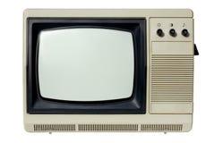 Vieux poste TV Images stock