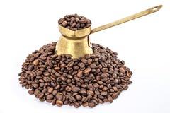 Vieux pot traditionnel de café Image libre de droits