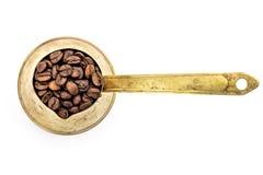 Vieux pot traditionnel de café Photographie stock
