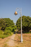 Vieux poteau de lampe Images stock