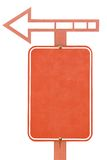 Vieux poteau de signalisation blanc Image stock
