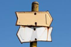 Vieux poteau indicateur image stock