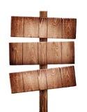 Vieux poteau indicateur en bois image stock