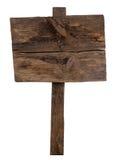 Vieux poteau indicateur en bois Photos stock